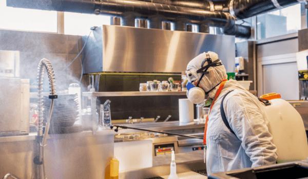 industrial sanitizer servicing